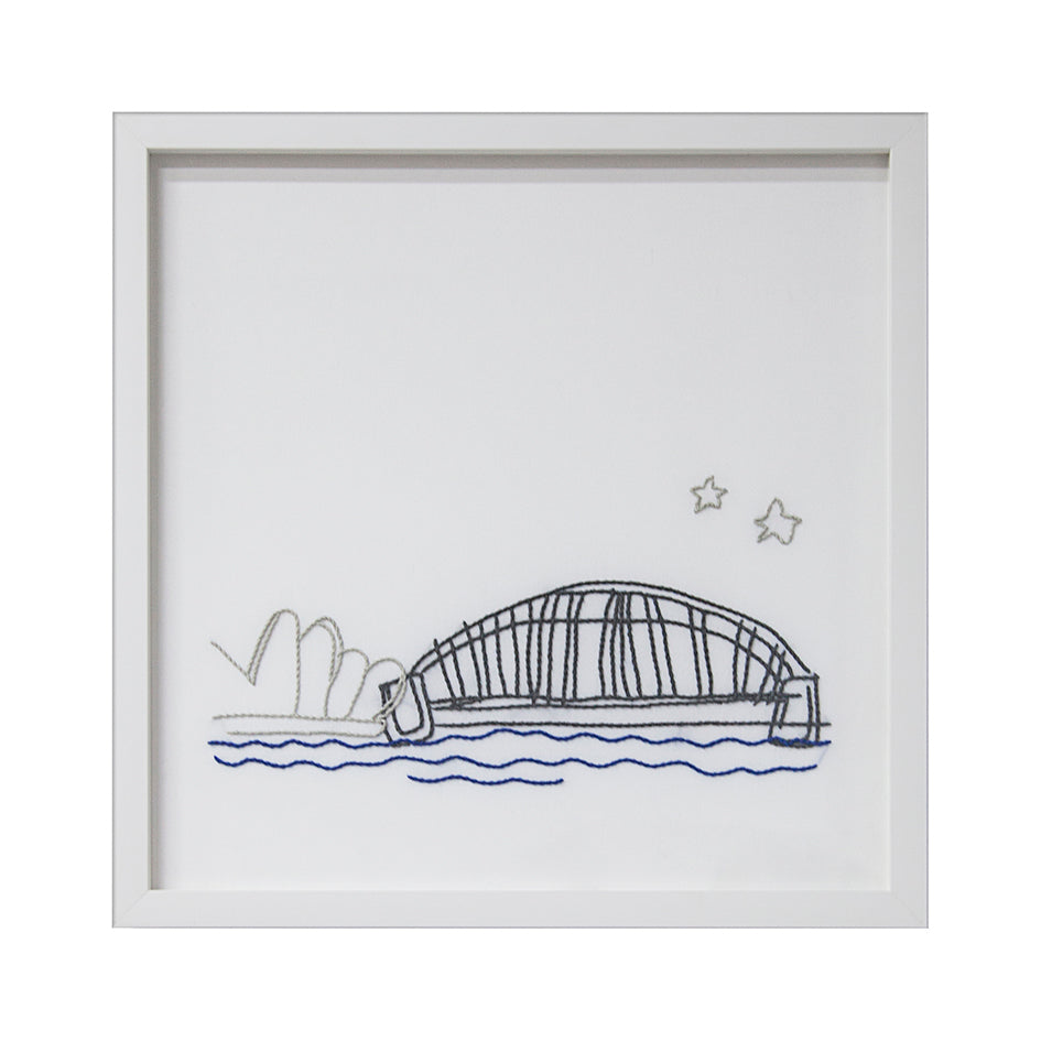 Embroidered Harbour Artwork