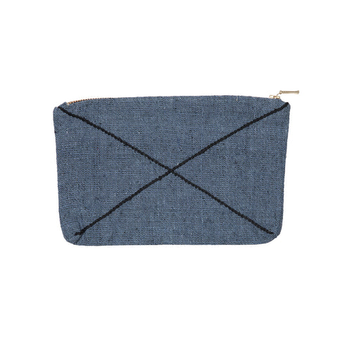 X zip purse denim