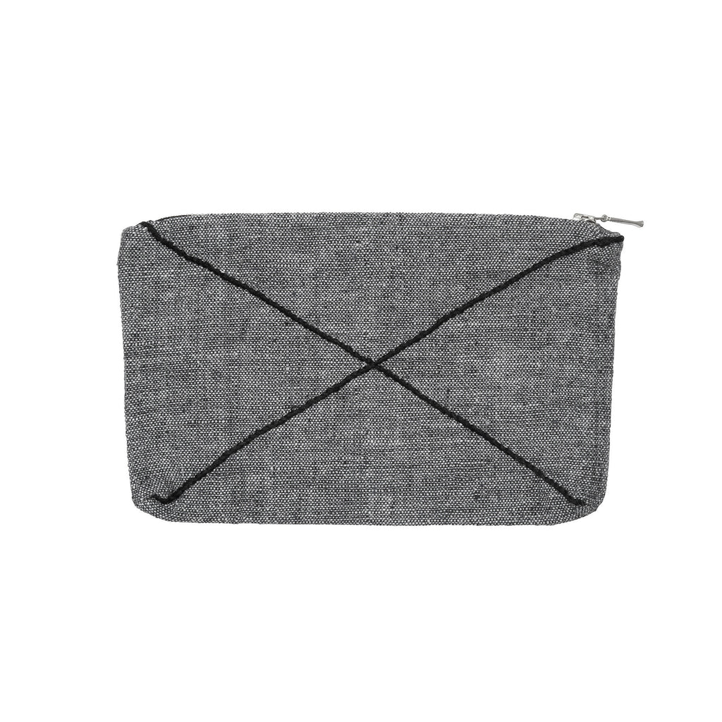 X zip purse grey