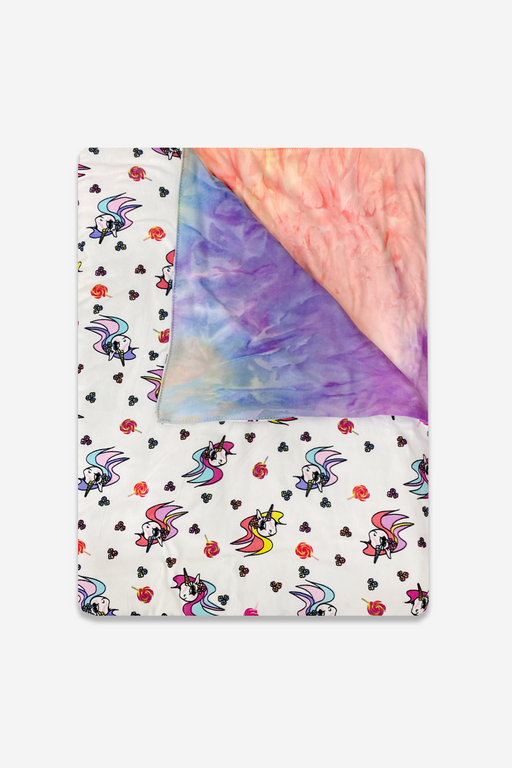 Blankets - White Unicorn Tie Dye Rainbow