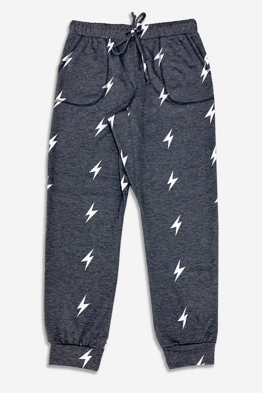 Boy's Jogger - Charcoal Bolts