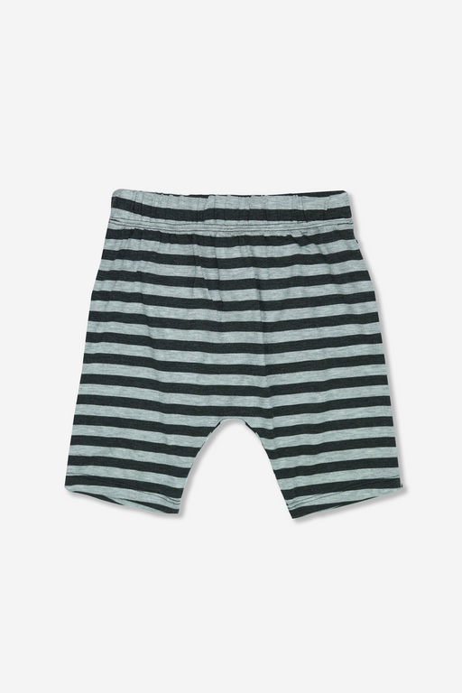 Boy Harem Short - Grey/Charcoal Stripe