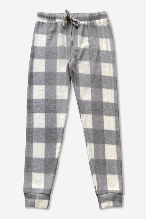 Cozy Sweatpant - Charcoal Ivory Buffalo Check