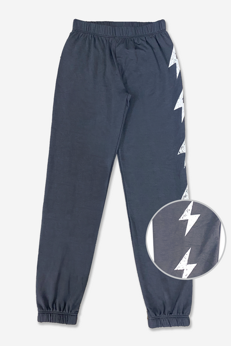 Old School Sweatpant - Charcoal White Bolts