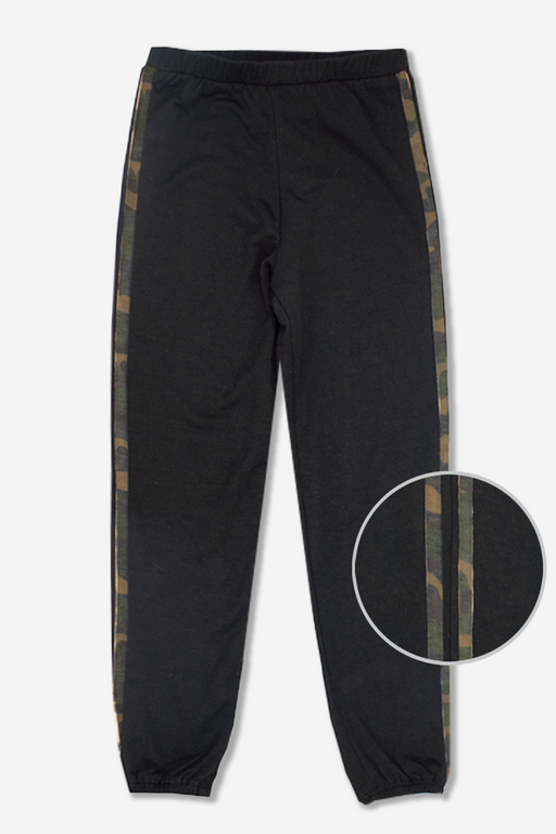 Cozy Sweatpant - Black Camo Trim