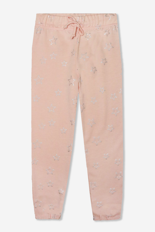 Cozy Sweatpant - Blush Foil Stars