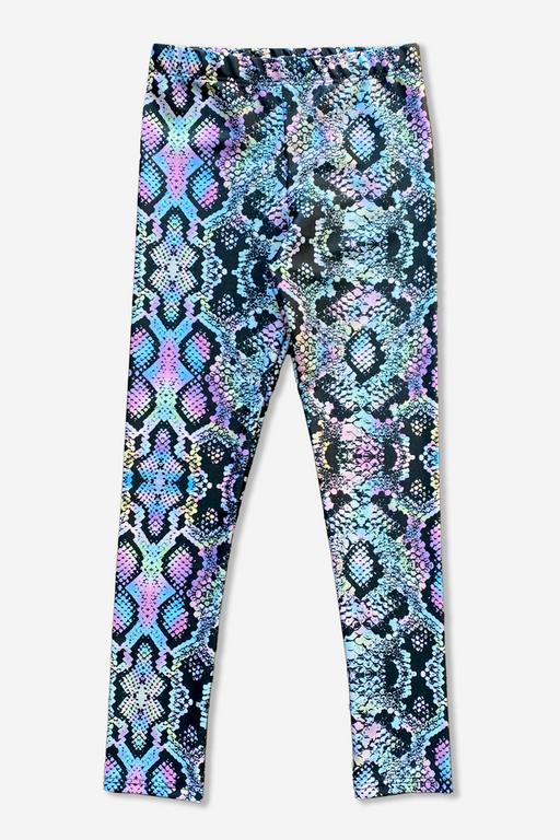 High-Shine Long Legging - Holographic Snake