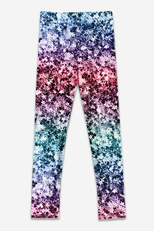 High-Shine Long Legging - Ombre Glitter Stars