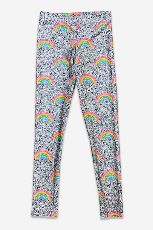 High-Shine Long Legging - Glitter Rainbow