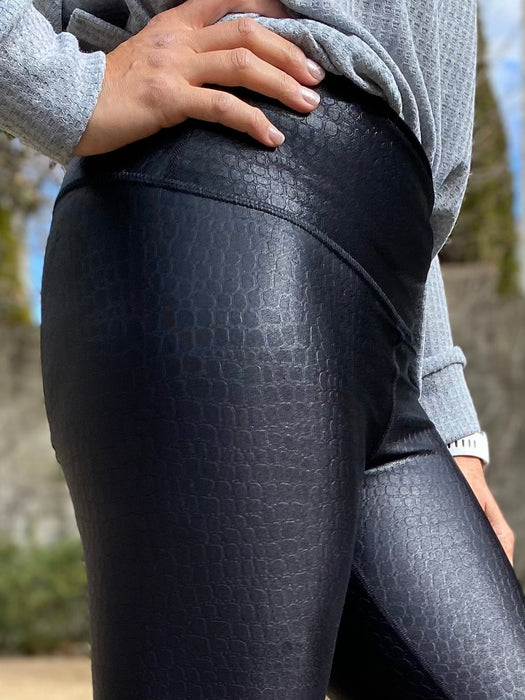 Women's Long Legging - Specialty - Black Croc PRE-ORDER SHIPDATE 3/1