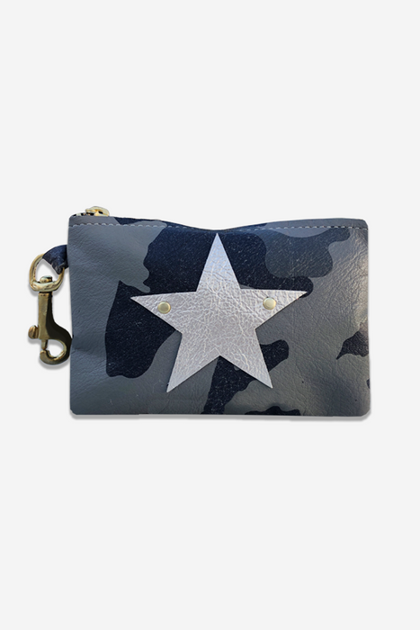 Lia Clip-On Keychain Credit Card Wallet - Military Camo Star