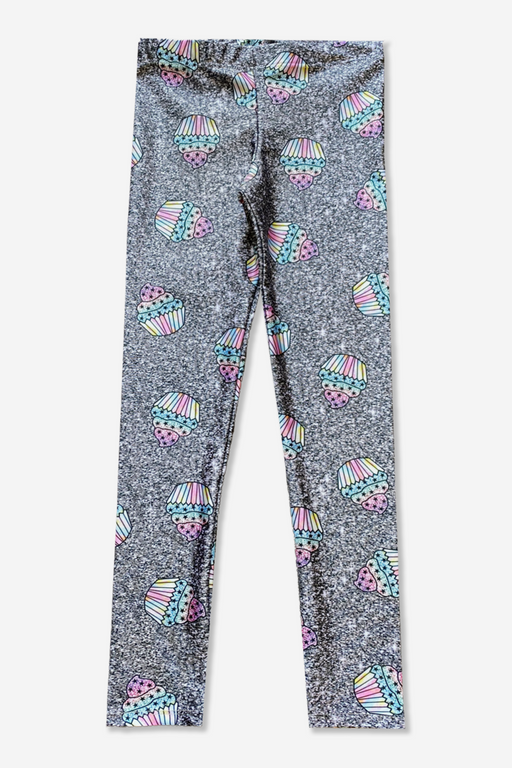 Long Legging - Printed - Glitter Cupcakes