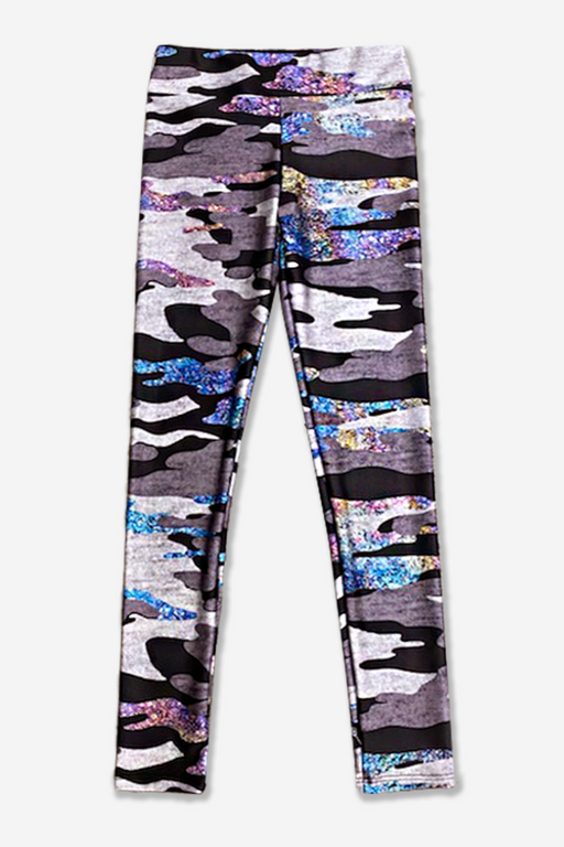 High-Shine Long Legging - Mid Rise - Oil Spill Camo