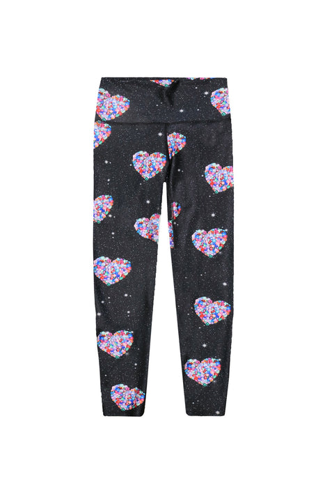 Women's Long Legging - Galaxy Jewel Hearts