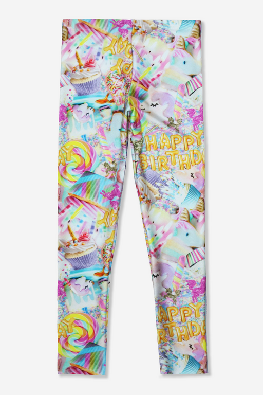 Long Legging - Printed - Unicorn Birthday
