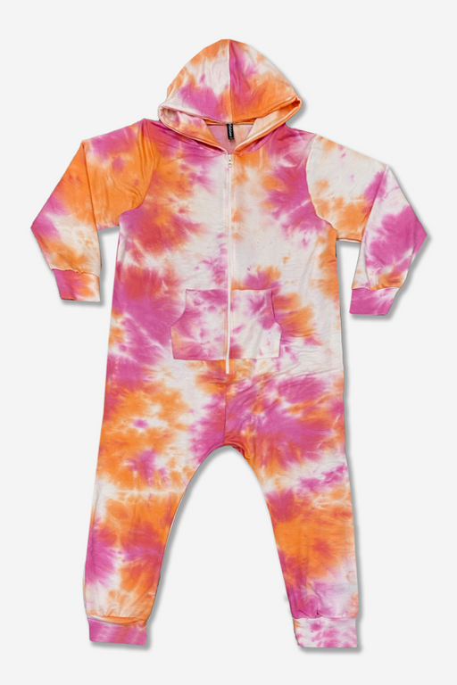 Onesie - Fuschia Orange Tie Dye