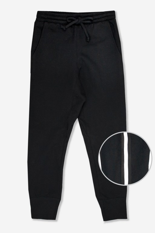 Relaxed Jogger - Black With Trim