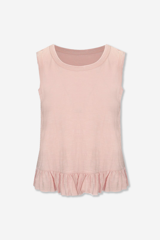 Ruffle Tank - Dusty Blush