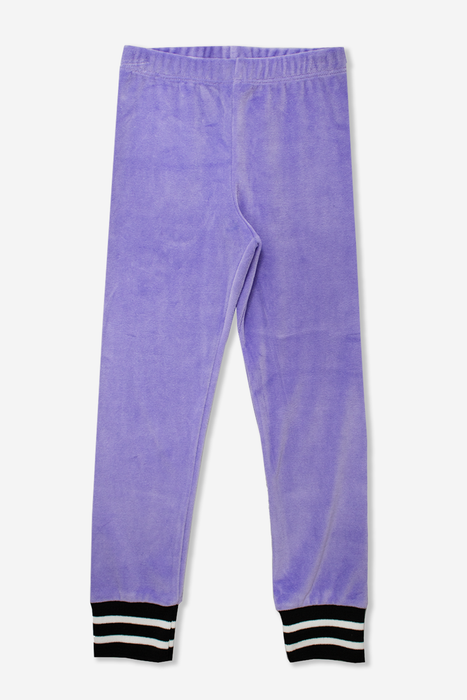 Skinny Lounge Pant w/ Cuff - Lavender Velour