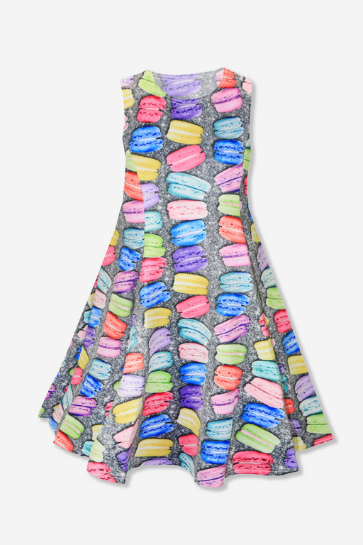 Sleeveless Twirl Dress - Macaroon