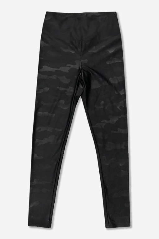 Tween Long Legging - High Waist - Black Camo