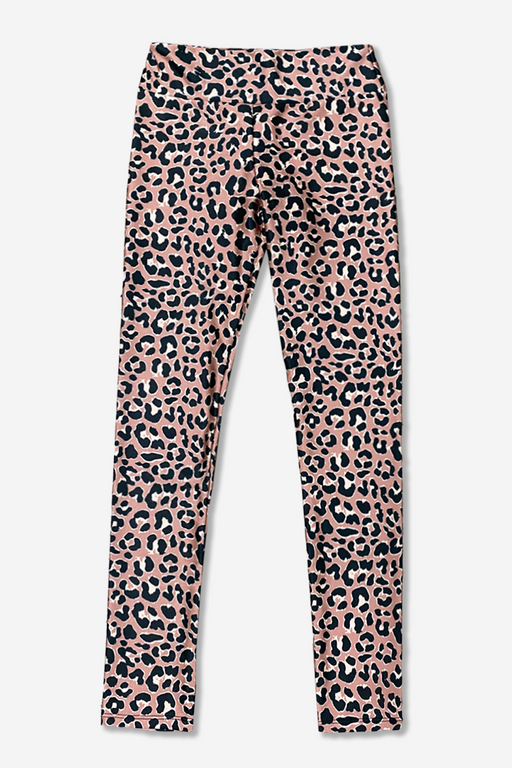 Tween Long Legging - High Waist - Taupe Leopard