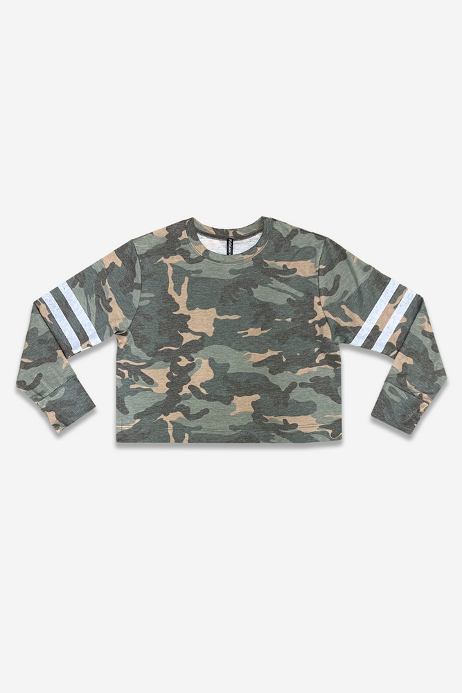 Skimmer Crew Top - Camo Stripes