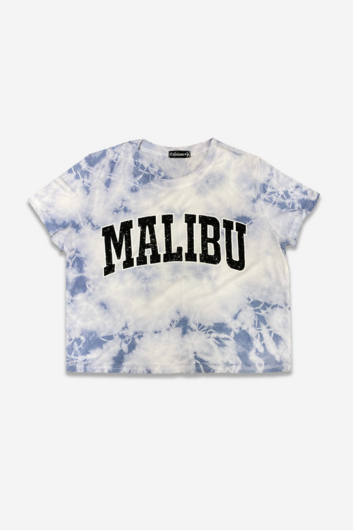 Super Soft Cropped Tee - Cloudy Tie Dye Malibu