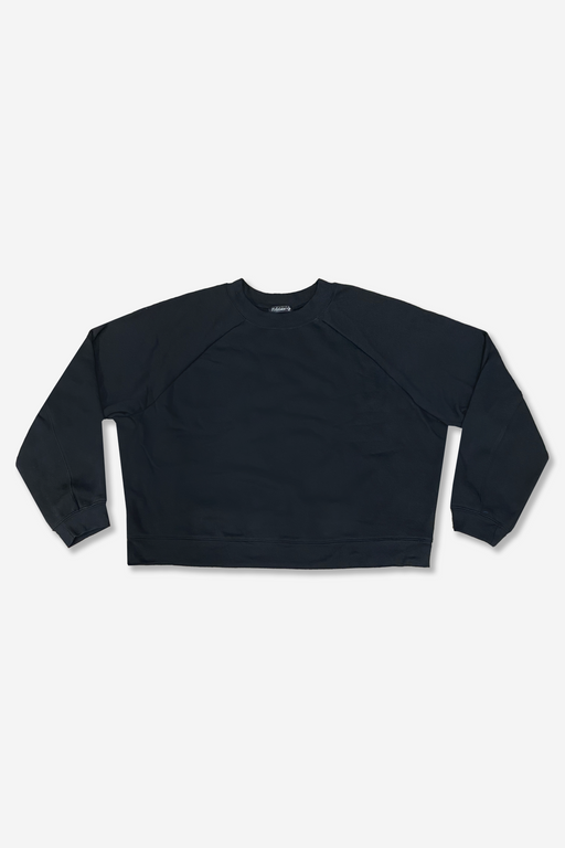 Women's Cropped Raglan Pullover - Black