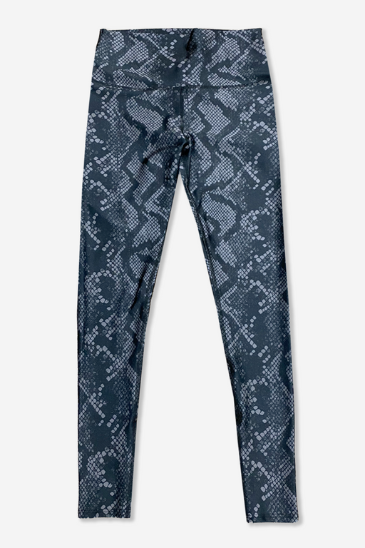 Women's Long Legging - Black Grey Python