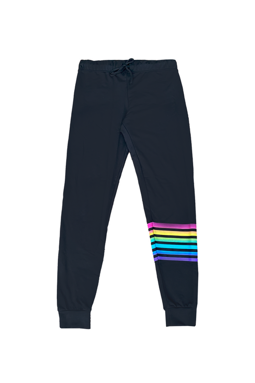 Women's Lounge Pant - Black Multi Stripes