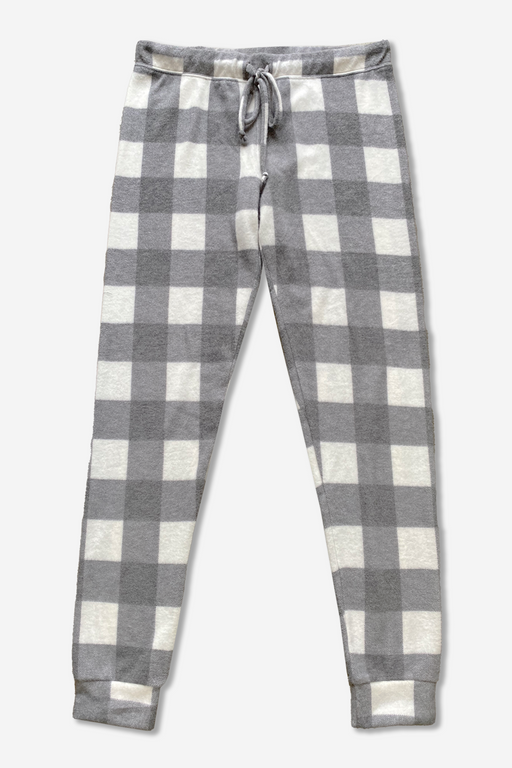 Women's Lounge Pant - Charcoal Ivory Buffalo Check