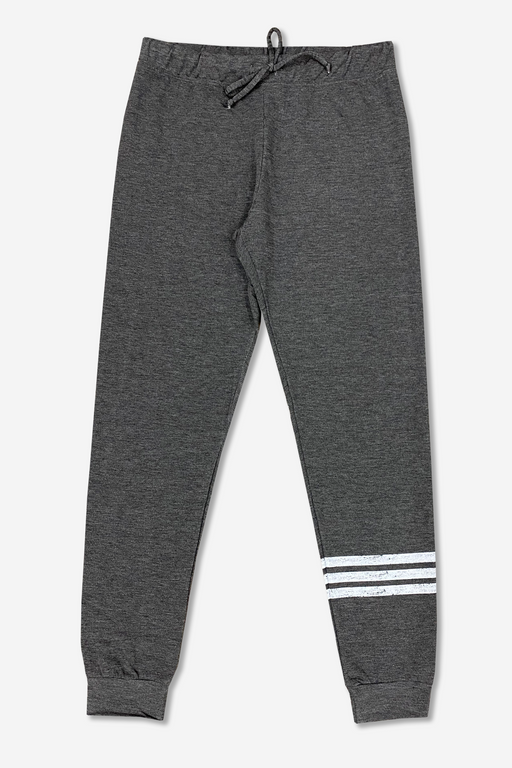 Women's Lounge Pant - Charcoal Stripes