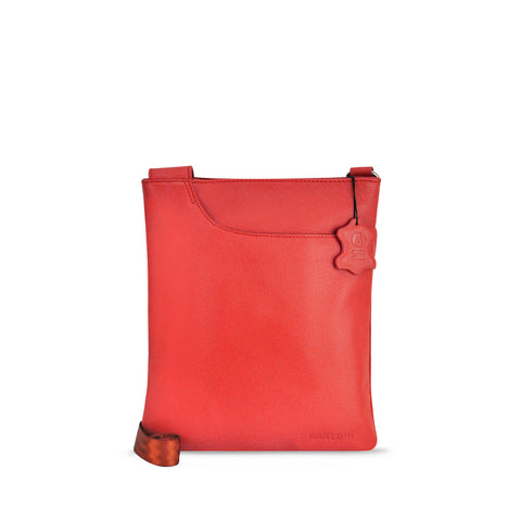 Red Leather Crossbody - A128