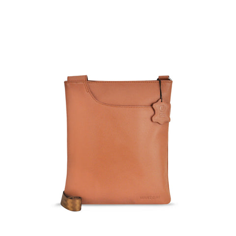 Tan Leather Crossbody - A128