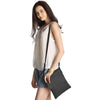 Black Leather Crossbody - A191