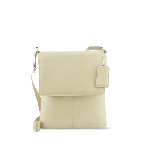 Ivory Leather Crossbody - A191