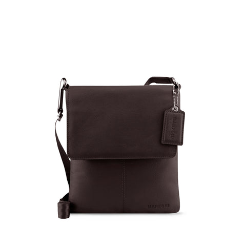 Brown Leather Crossbody - A191