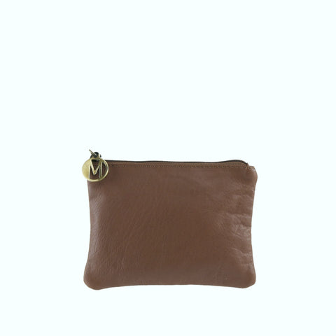Cocoa Leather Pouch - S1028CR