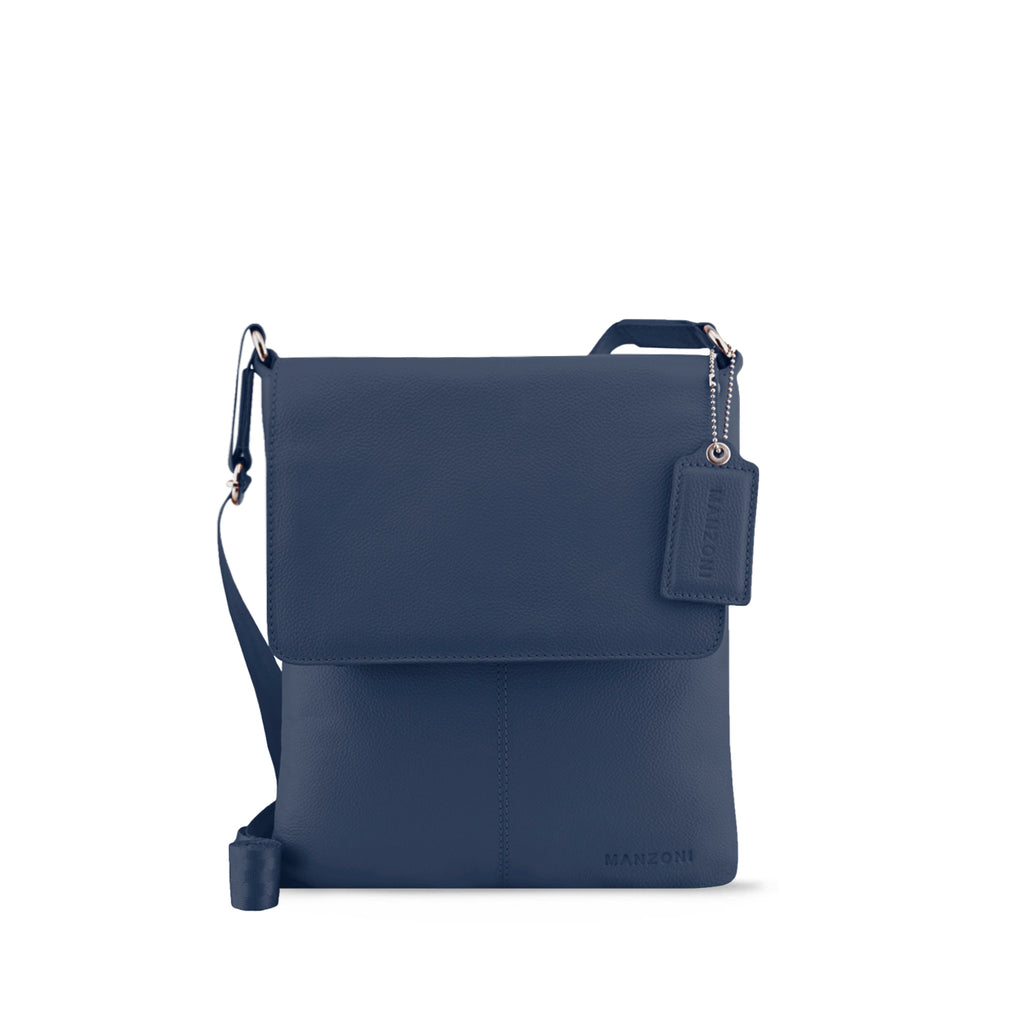 Navy Leather Crossbody - A191