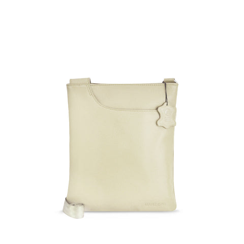 Ivory Leather Crossbody - A128