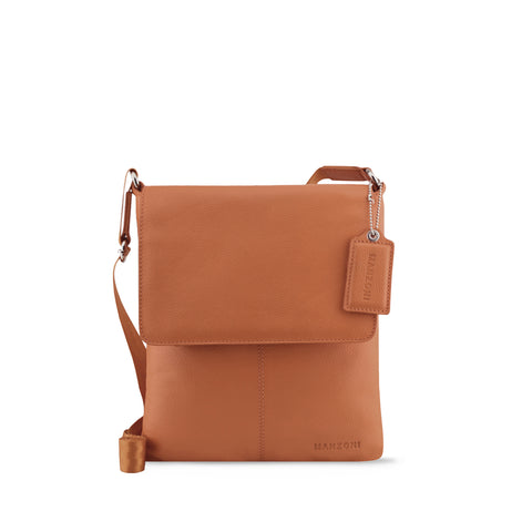 Tan Leather Crossbody - A191