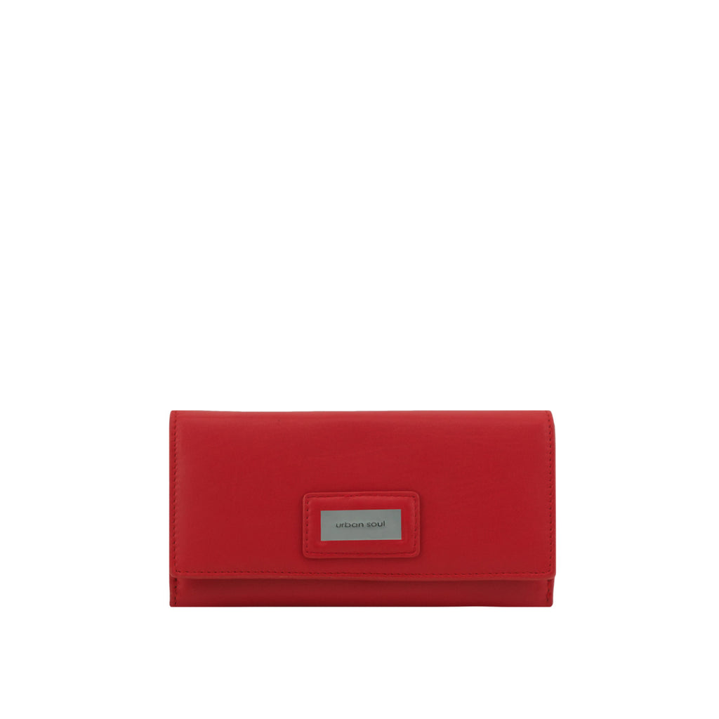 Red TriFold Leather Wallet - US0001A