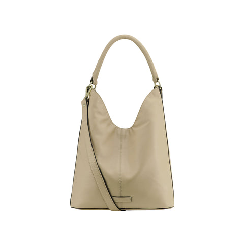 Doeskin Full Grain Leather Shoulder Bag - N694