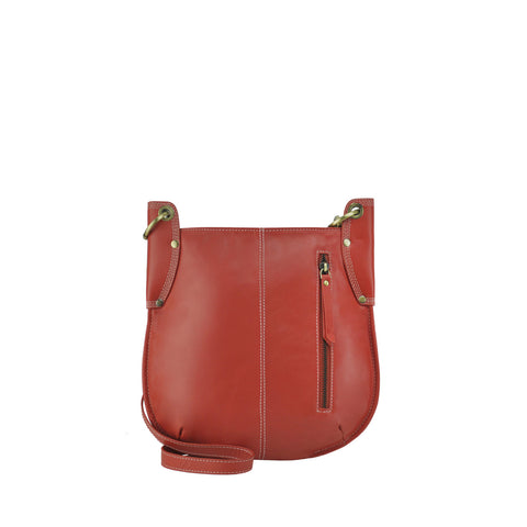 Red Leather Crossbody - A132