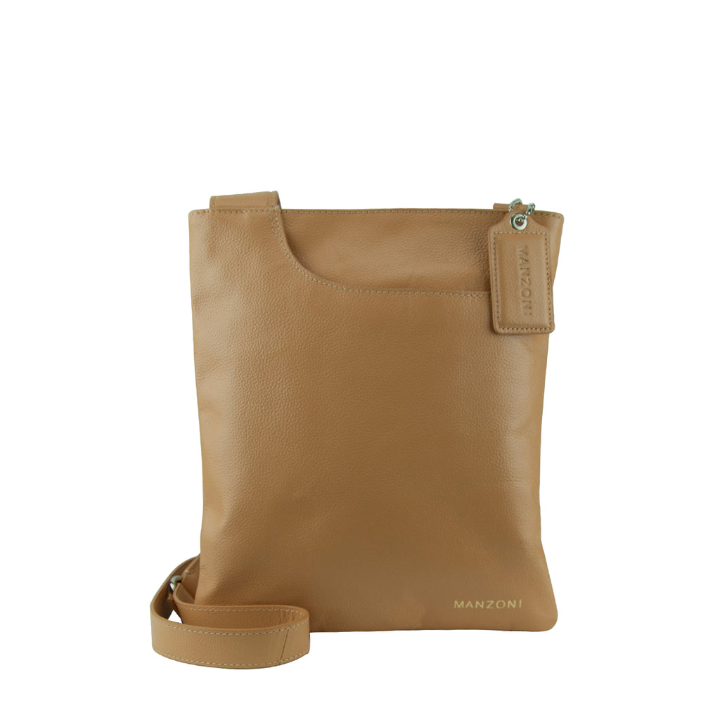 Camel Leather Shoulder Strap Crossbody - A128L