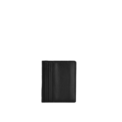 Black Leather Card Holder - W763