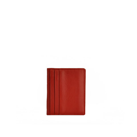 Red Leather Card Holder - W763