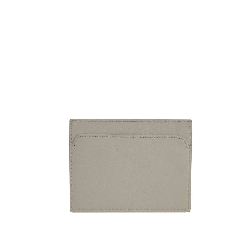 Ivory Leather Card Holder - W762