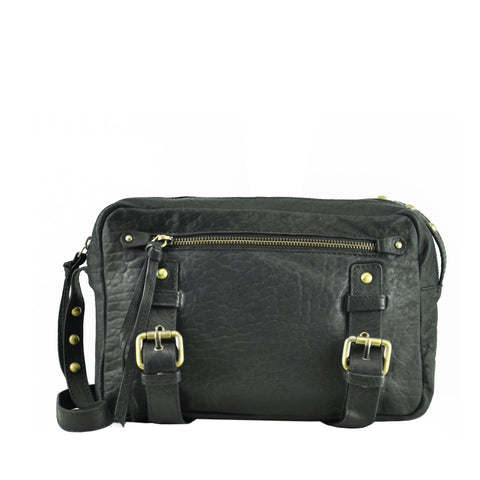 Black Sheep Bubble Leather Shoulder Bag - MA167